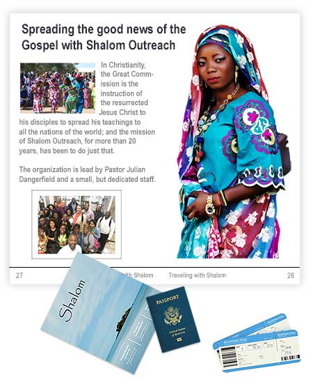 Shalom magazine layout